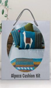 Alpaca Cushion Knitting Kit from Lady Sew and Sew