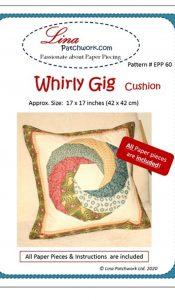 'Whirly Gig Cushion EPP pattern from Lina Patchwork