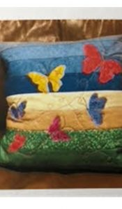 PRODUCT of the MONTH October 20: Butterfly Applique Cushion Kit from Creative Quilting