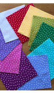 Andover Star Bright Precut – 5″ squares (20 squares)