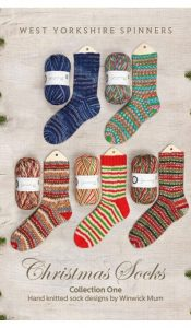 BOOK of the MONTH Nov 20: Christmas Socks – Collection One: Hand Knitted Sock Designs by Winwick Mum