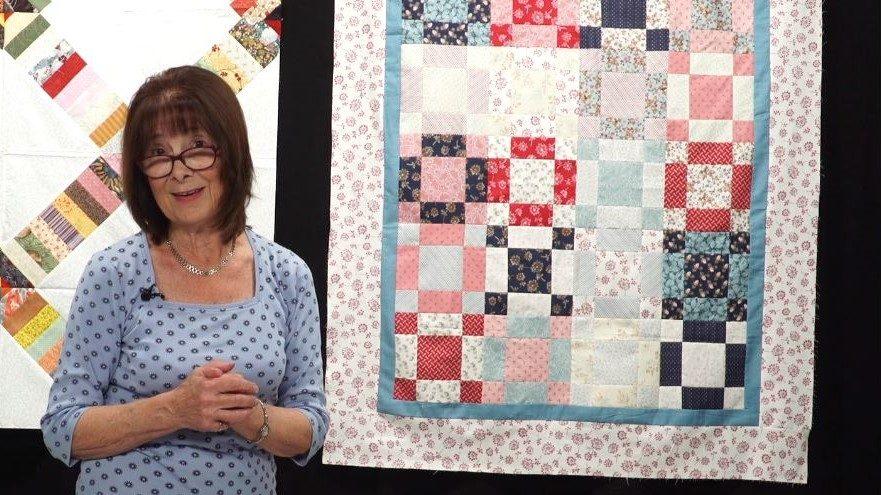 Bed of Roses quilt with Valerie Nesbitt