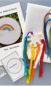 """The Rainbow"" embroidery kit designed by Kate Barlow"
