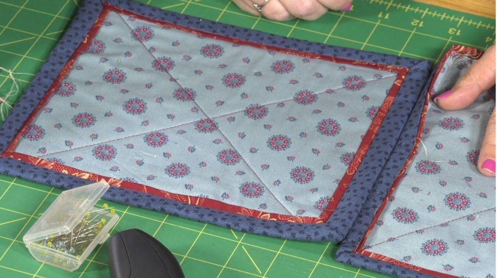 Double patchwork binding technique with Sallieann Harrison