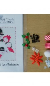 """ Heads Up"" It's Christmas Wreath pattern and Embellishment Kit by Gail Penberthy"