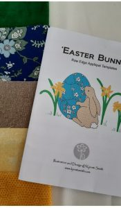 Easter Bunny applique kit designed by Kjersti Smith