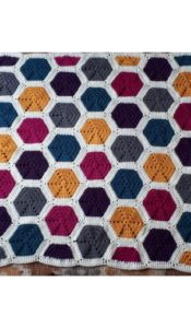 Hexagon Throw crochet pattern designed by Jane Czaja (download)