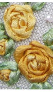 PRODUCT of the MONTH Mar 21: A Taste of Silk Ribbon Embroidery…Yellow Taster pack from Lorna Bateman