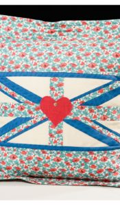 PRODUCT of the MONTH May 21: Oxford Style Faded Flag Cushion kit by Anne Baxter from Creative Quilting
