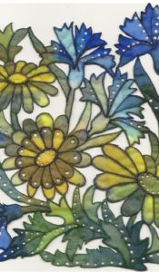 PRODUCT of the MONTH July 21: Daisies and Blue Cornflower Machine Embroidery Kit from Kathleen Laurel Sage