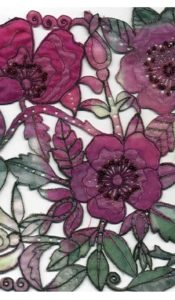 PRODUCT of the MONTH July 21: Pink Rose Machine Embroidery Kit from Kathleen Laurel Sage