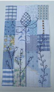 Vintage Wildflowers Teasels & Rosehips Miniature Quilt Kit designed by Julia Gahagan