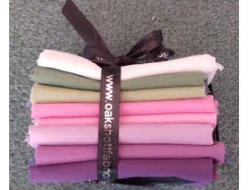 Subscriber Giveaway for August 2021 – Fat 8ths Pack – 8 Colours from Oakshott Fabrics