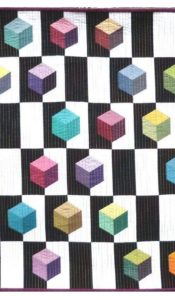 PRODUCT of the MONTH October 2021: Hexahedron Wall Hanging Pack 'n Pattern from Oakshott Fabrics