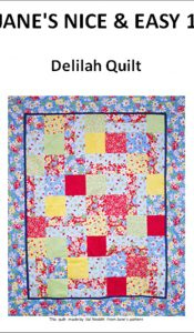 Delilah quilt pattern designed by Jane Czaja (download)
