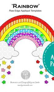 Rainbow – Appliqué Pattern by Kjersti Smith
